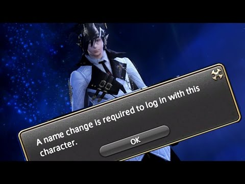 When you change your character's name [FFXIV]