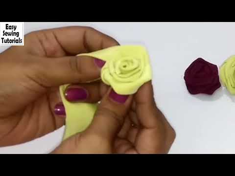 How to make Fabric Roses | Easy way to make Fabric Flowers/Roses