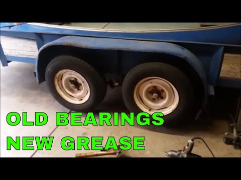 How to replace / grease wheel bearings on a trailer - detailed instructions