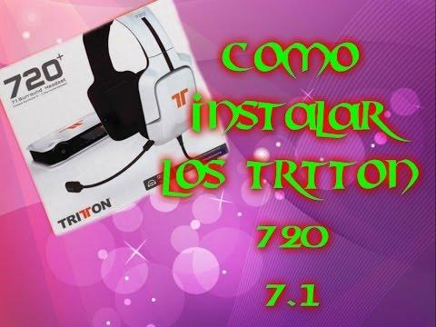 INSTALACION CASCOS TRITTON 720 7.1 SURROUND HEADSET TUTORIAL