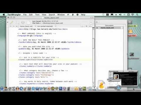 Create XML file for iTunes Podcast