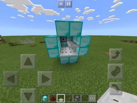 How to Make a Flaming Arrow Canon in Minecraft PE