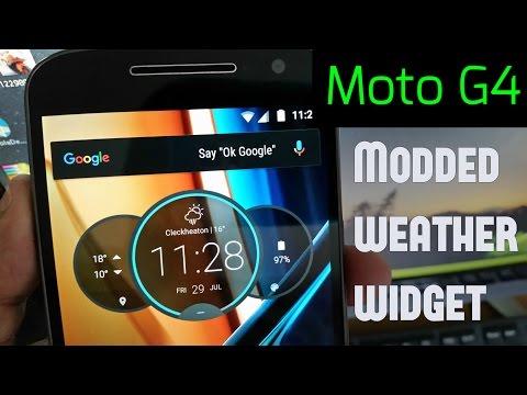 Moto G4  & G4 PLUS (2 NEW Alternative Weather & Clock Widgets)