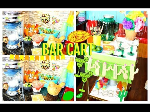 Fiesta Party Bar Cart + Drink Station