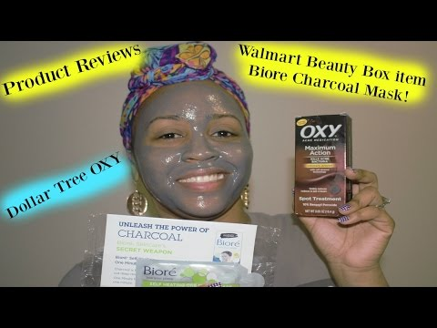 Product Reviews: Dollar Tree Oxy & Biore Charcoal Mask!