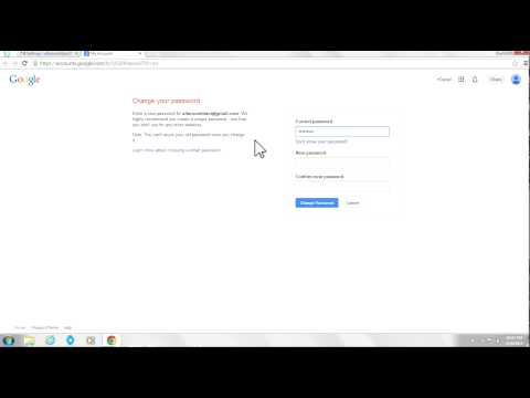 How to Change Youtube Password (2014)