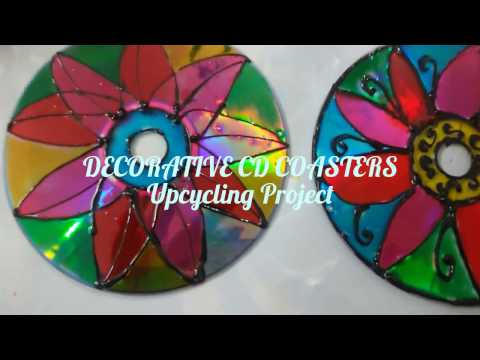 DIY How to Make CD Coasters with waste CDs and DVDs