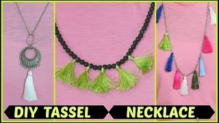 How to make beautiful necklace at home/DIY tassel necklace/INDIANGIRLCHANNEL TRISHA