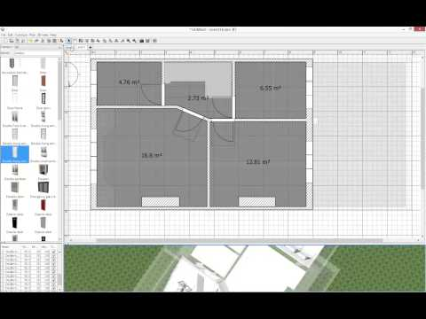 How to quickly create your floor plan in Sweet Home 3D