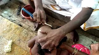 kids Mottai on Temple | Head Shave For Kids || How To Do Head Shave ||