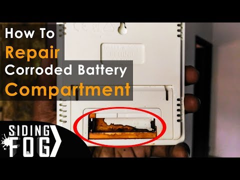 How to repair corroded battery compartment