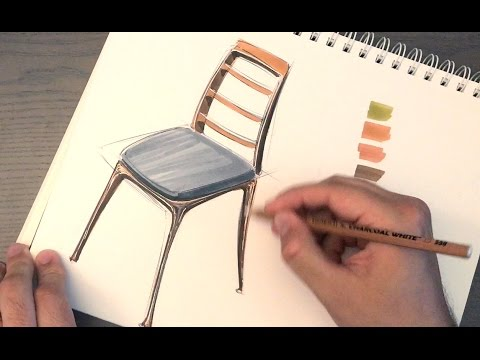 Design Sketching - How to draw a chair + Surprise