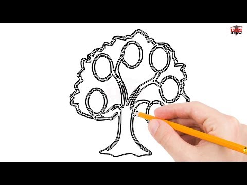 How to Draw a Family Tree Step by Step Easy for Beginners/Kids – Simple Trees Drawing Tutorial