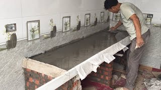 Building Kitchen Cooking Table Traditional - Techniques Install Kitchen Table, Beautiful and Easy