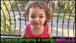 Peppa Pig Bing Bong Song with Lyrics - performed by talented 26 month old toddler