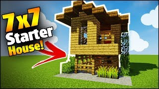 Minecraft 8x8 Starter House Tutorial How To Build A House In Minecraft