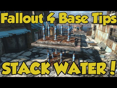 Fallout 4 Settlements - How to Place Water Anywhere! - A Wasteland Workshop Exploit
