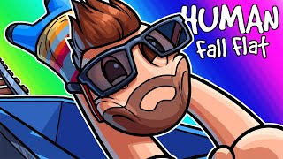 Human Fall Flat Funny Moments - Obstacles and Dumpster Races!