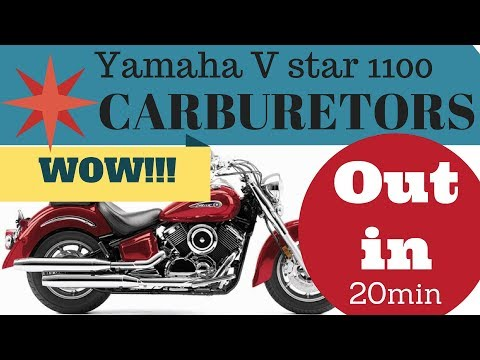 YAMAHA XVS1100  How to remove carburetors  STEP BY STEP INSTRUCTIONS