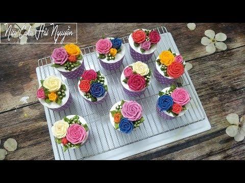 Cách Trang Trí Cupcake Hoa Hồng Tuyệt Đẹp - Decorate Cupcake Roses