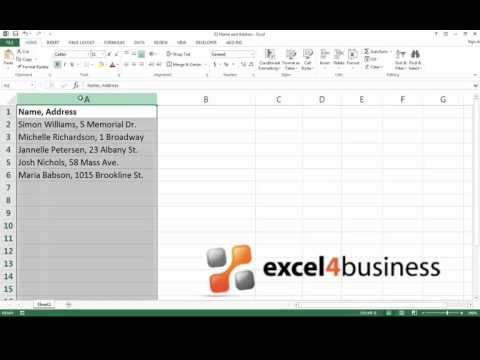 How to Split Text in Excel