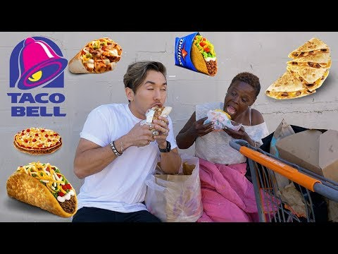 Taco Bell MUKBANG with a HOMELESS WOMAN!
