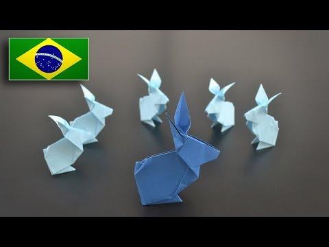 Origami: Coelho Simples - Instruções em Português BR