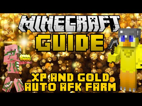 Minecraft: Guide to Gold & XP AFK Farm (1.8 Friendly)