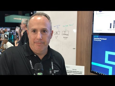 VMworld 2017 US - at HPE, Mike Flaum shows us the HPE Synergy Composable Infrastructure Platform