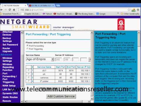Portforwarding Netgear Router