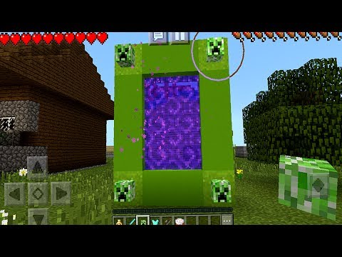 How to Make a Creeper Portal in Minecraft Pocket Edition (NO ADDONS)