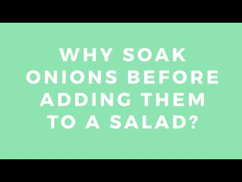 How To Make Onions Less Astringent!