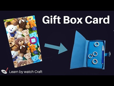 Make a Gift box card at Your Home (DIY)   Learn By Watch