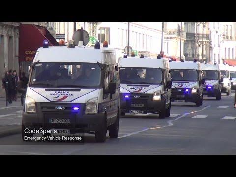 Fourgons de la Police nationale // Convoy Police Vans Paris