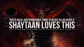 Allah Does Not Like This Halal Thing (But Shaytaan Loves it)