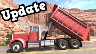 Beamng Drive Update 0.8 - T 75 Dump Truck Test Drive