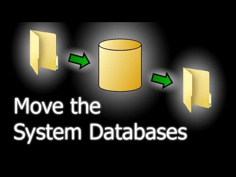 How to move the system database files in SQL Server