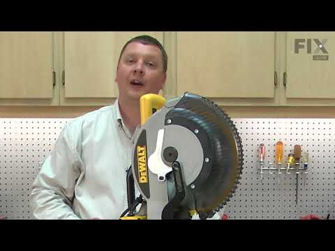 DeWALT Miter Saw Repair - How to Replace the Locking Pin