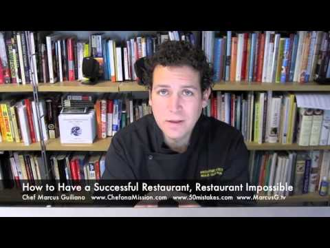 How to Have a Successful Restaurant, Restaurant Impossible