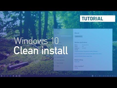 Windows 10 April 2018 Upate: Clean install process