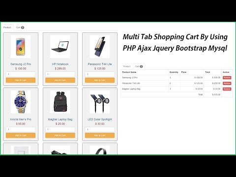 Multi Tab Shopping Cart By Using PHP Ajax Jquery Bootstrap Mysql - Part 1