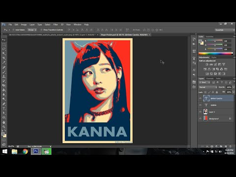 Photoshop Tutorial - Hope Poster Art
