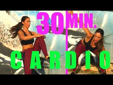 Slim Waist & Abs Exercises   30 Minute Cardio Workout