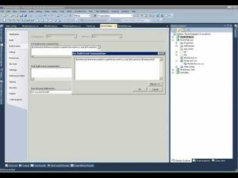 Creating proxy from WcfService Assemblies