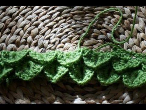 crocodile stitch blanket part 2