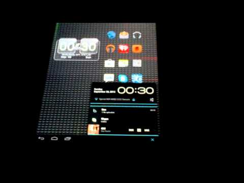 Just messing around with newly installed CyanogenMod Android on my HP Touchpad