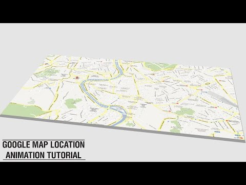 After Effects Animation Tutorial - Google Map Location