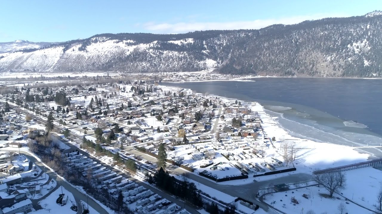 Time lapse Little Shuswap Lake by drone