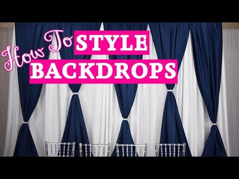 How To Setup a Backdrop with Decorative Swag or Valance