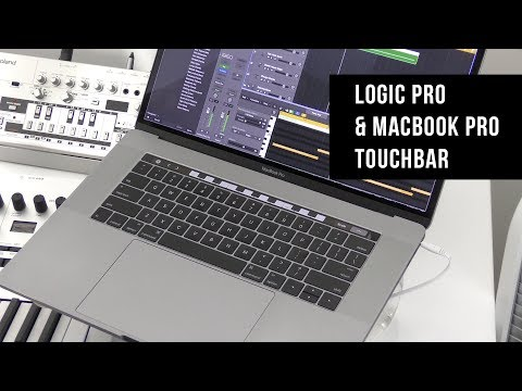 5 minutes with Logic Pro and the new  MacBook Pro Touch Bar